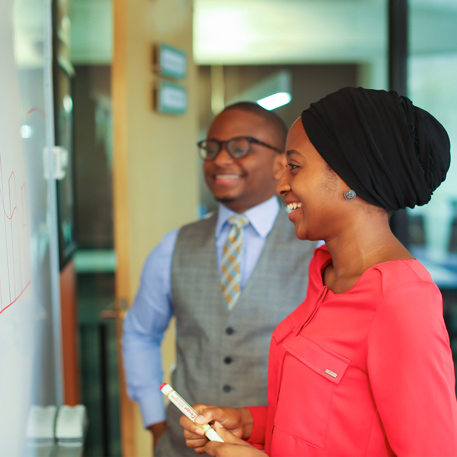 Satisfied employees at McKinsey Nigeria